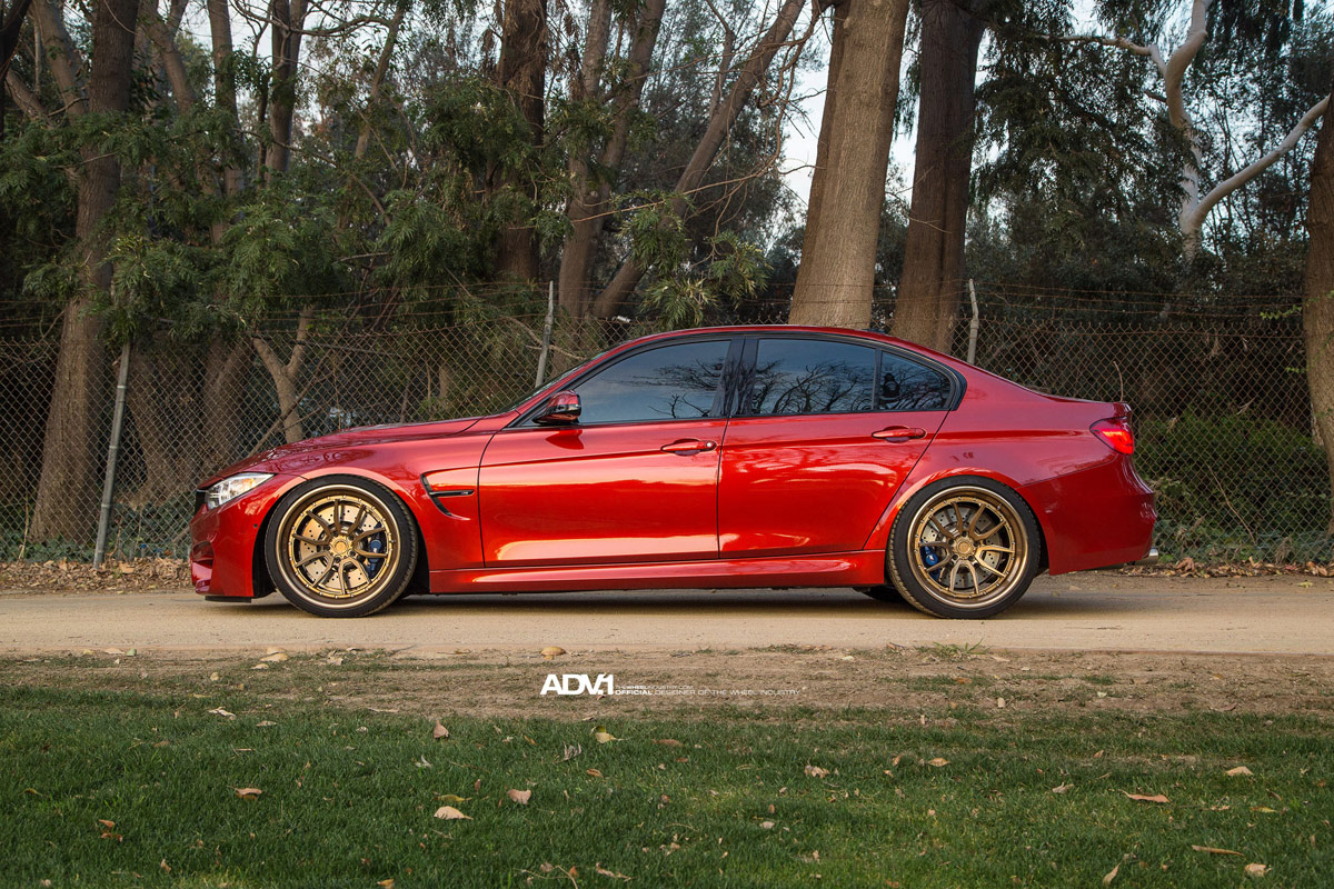 Bmw M3 Hotted Up With Adv 1 Wheels