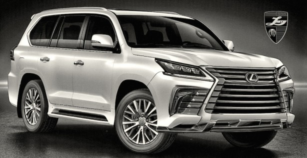 forcegt 2016 lexus lx 570 by larte design front quarter