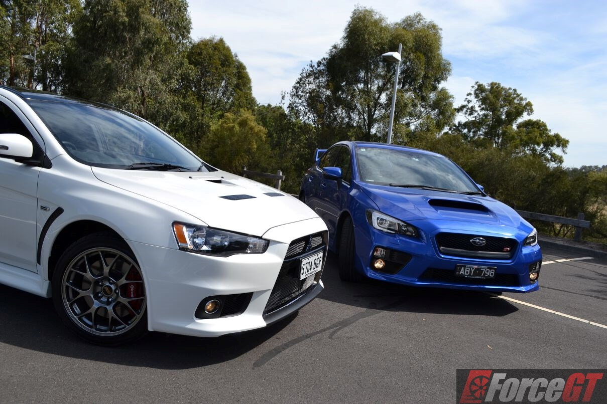 Head To Head Subaru Wrx Sti Vs Mitsubishi Lancer Evo X