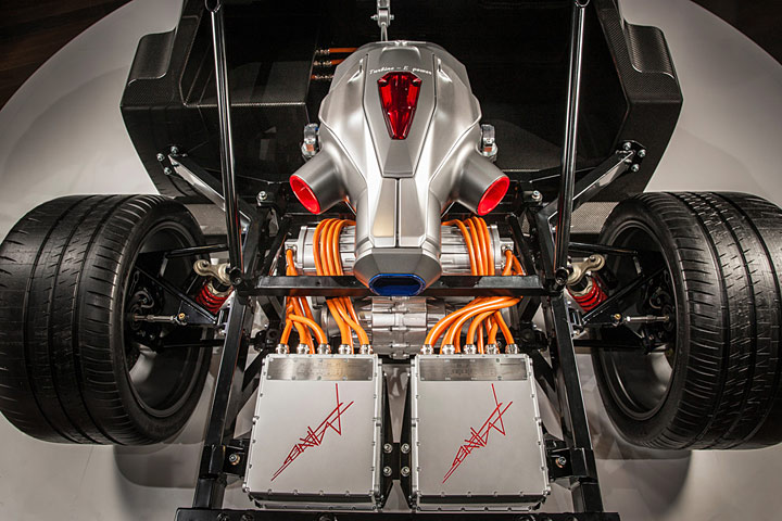 Techrules Cars Trev Electric Turbine Hybrid Geneva Prototype Rear Top
