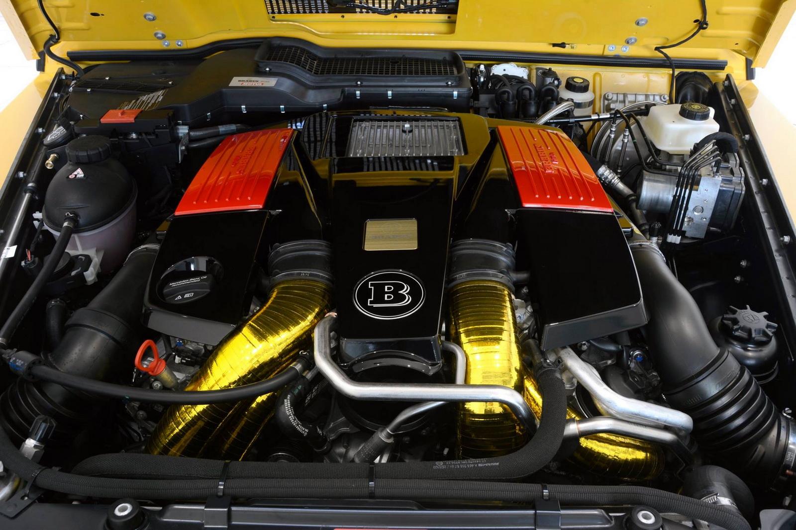 Mercedes Brabus G Widestar G Engine