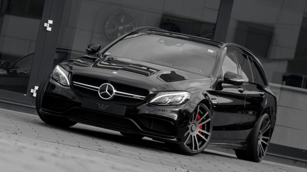 mercedes amg c63 estate tuned by wheelsandmore front quarter