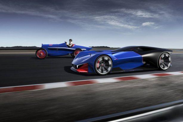 peugeot l500 r hybrid concept and l45 racer