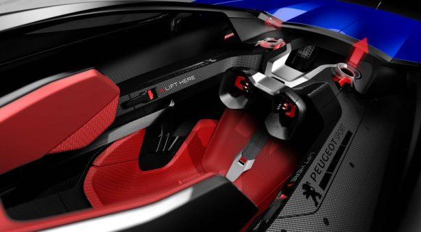 peugeot l500 r hybrid concept i cockpit