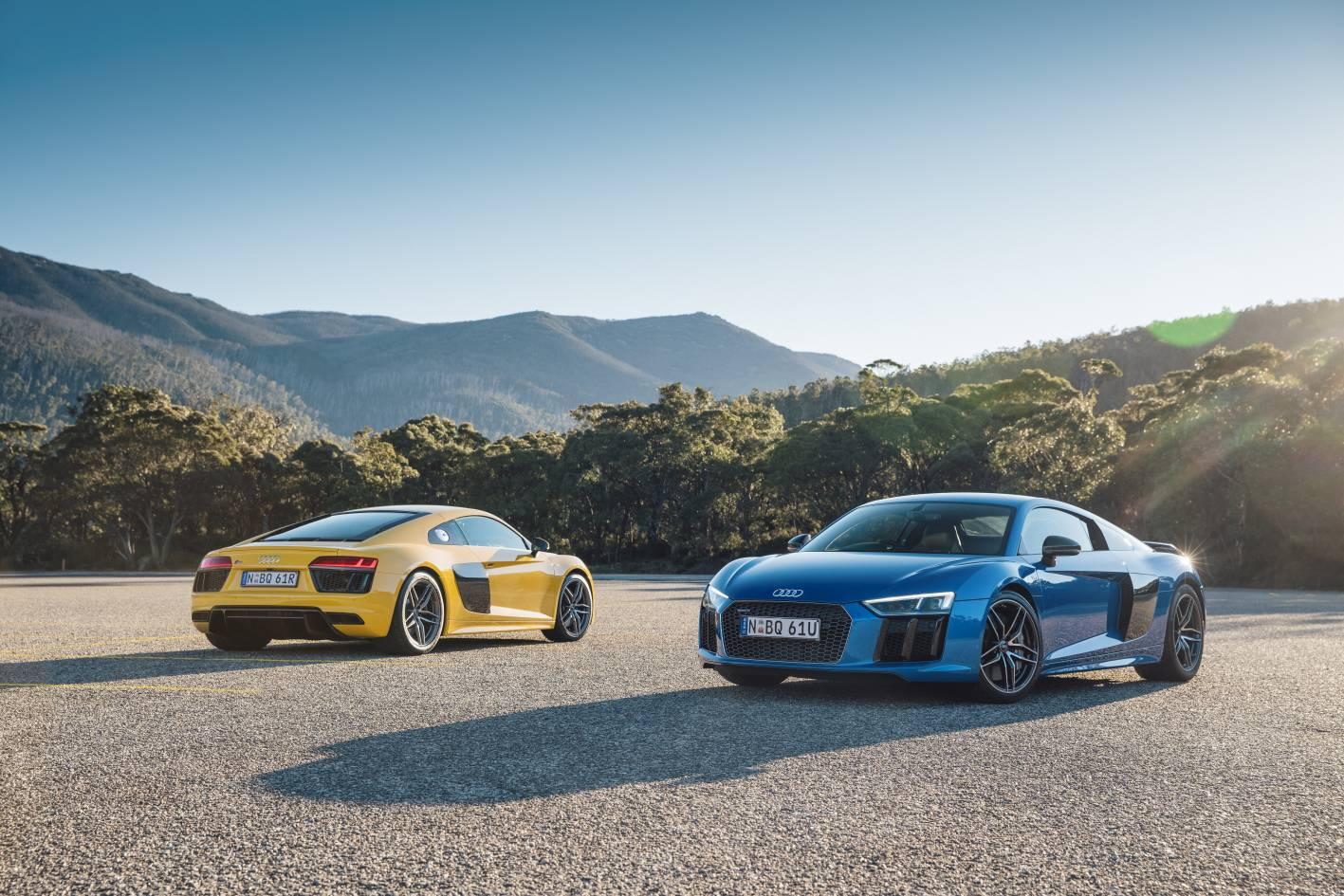 2016 audi r8 v10 and v10 plus coupe arrives in australia