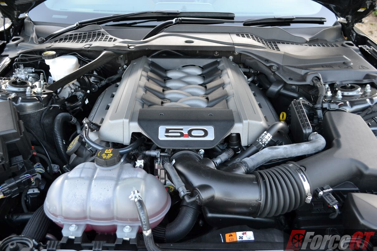 2016 ford mustang gt fastback engine bay