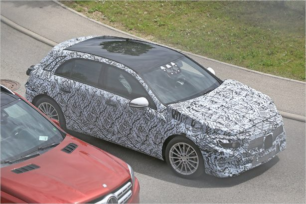2018 mercedes-benz a-class spy photo front quarter
