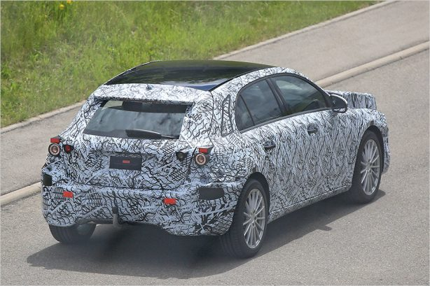2018 mercedes-benz a-class spy photo rear