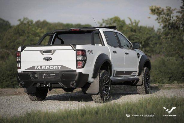 m-sport tuned ford ranger rear quarter