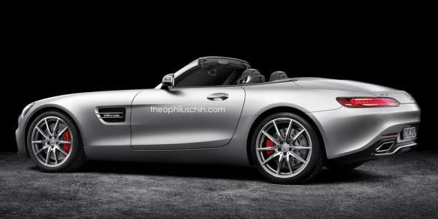 mercedes-amg gt roadster rendering rear quarter