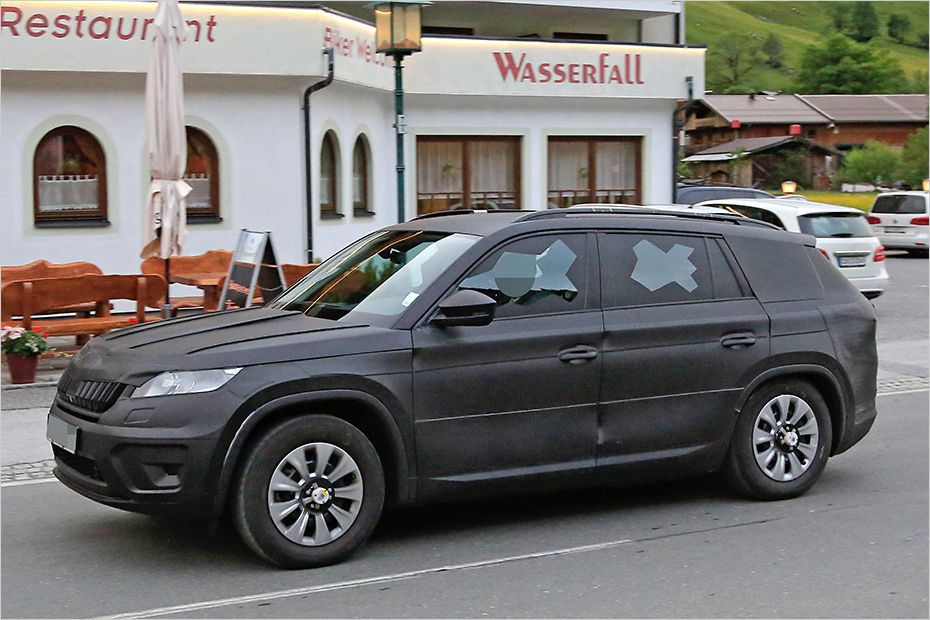 2016 Chevy Avalanche >> Skoda's new Kodiaq SUV spied for the first time