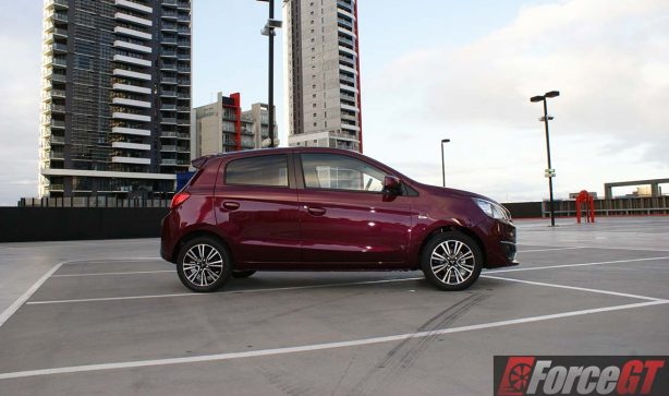 mitsubishi-mirage-2016-review-la-facelift-review-affordable-hatch-cvt-petrol-automatic-side