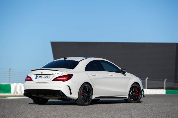 2016 mercedes-amg cla 45 rear quarter