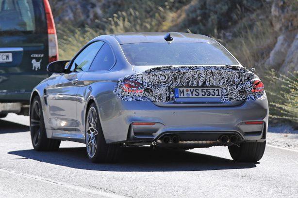 2017 bmw m4 facelift spy photo rear