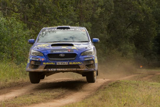 The Subaru duo of Molly Taylor and Bill Hayes, in the Group N Production Class All-Wheel Drive Subaru WRX STI,.