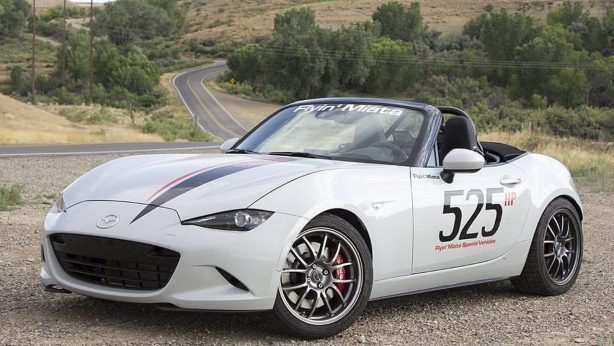 v8 powered mazda mx-5 front quarter