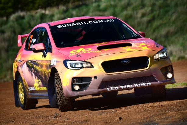 Subaru's newest colour scheme on the WRX STI features a theme based on South Australia's Murray River, with rich sunset tones marking a temporary departure from the traditional Subaru blue.