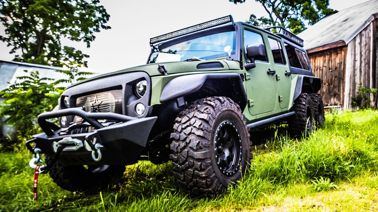 Chinese company G. Patton builds Jeep Wrangler 6x6 ...