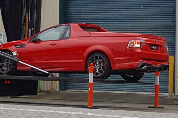 holden special vehicle gts-r W1 ute spy photo rear quarter