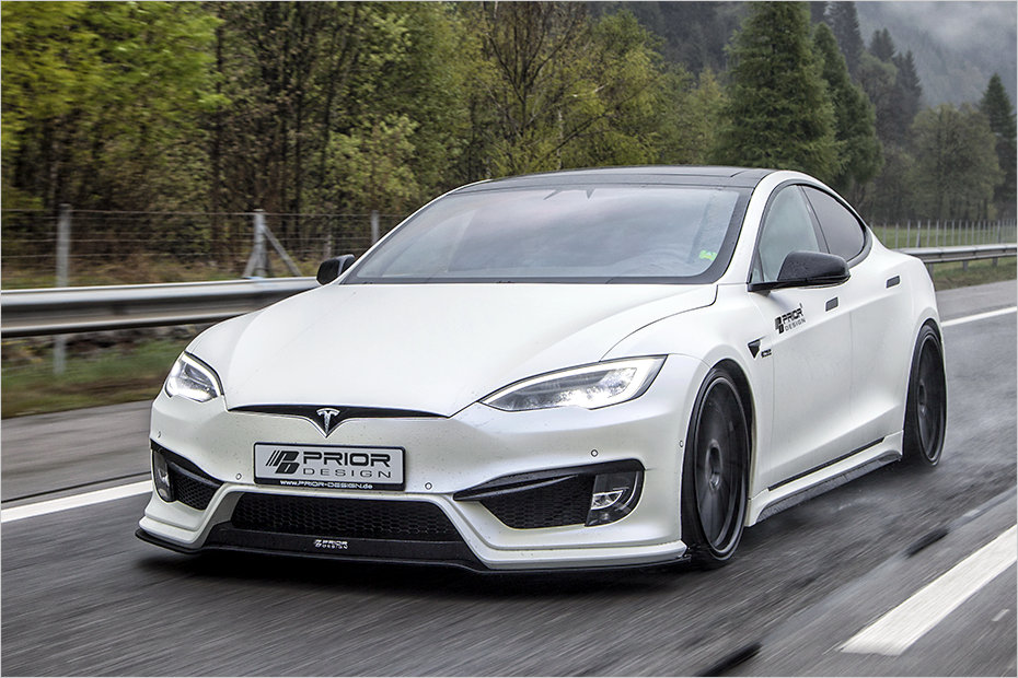 Tesla Model S goes aggressive with Prior Design bodykit