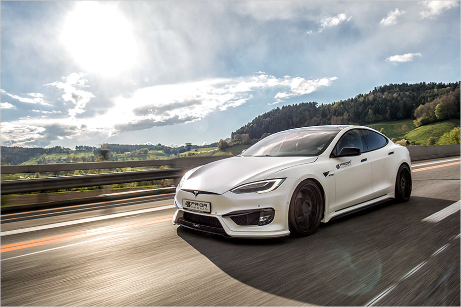 Tesla Stock >> Tesla Model S goes aggressive with Prior Design bodykit