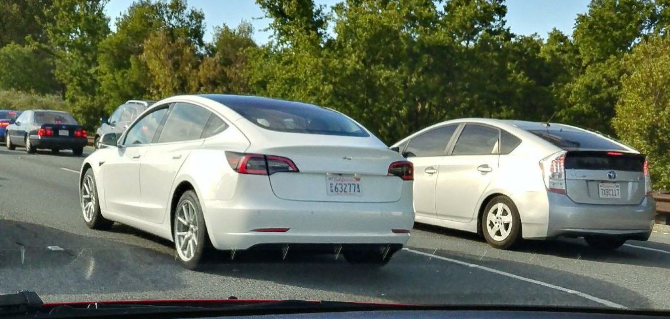 SPIED: Tesla Model 3 caught without camo for the first time