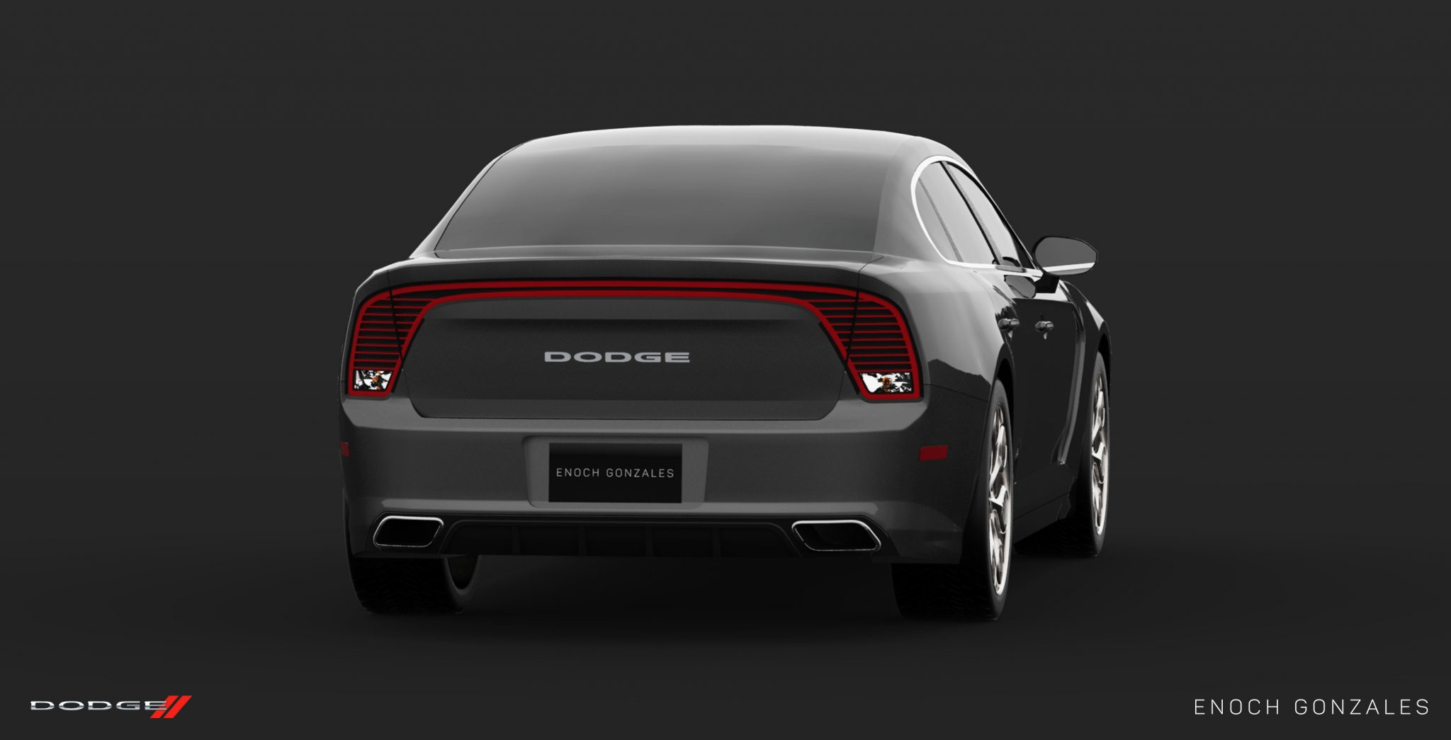 Dodge Charger Grey Rear