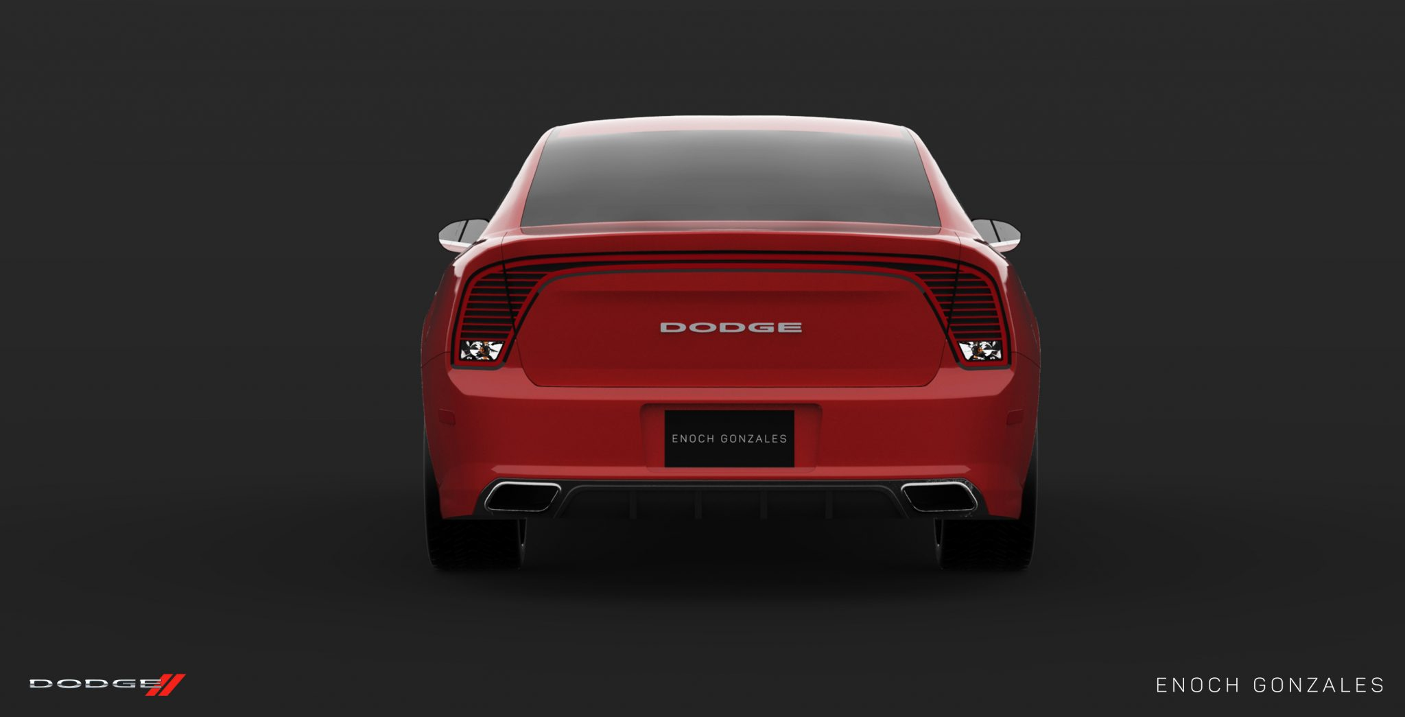 Dodge Charger Red Rear