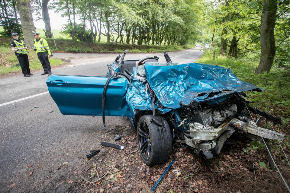Bmw M2 Coupe Unrecognisable After Severe Impact In