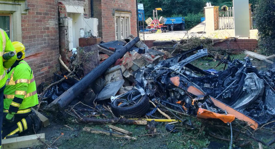 Mclaren 570s Totalled After Crashing Into House In The U K