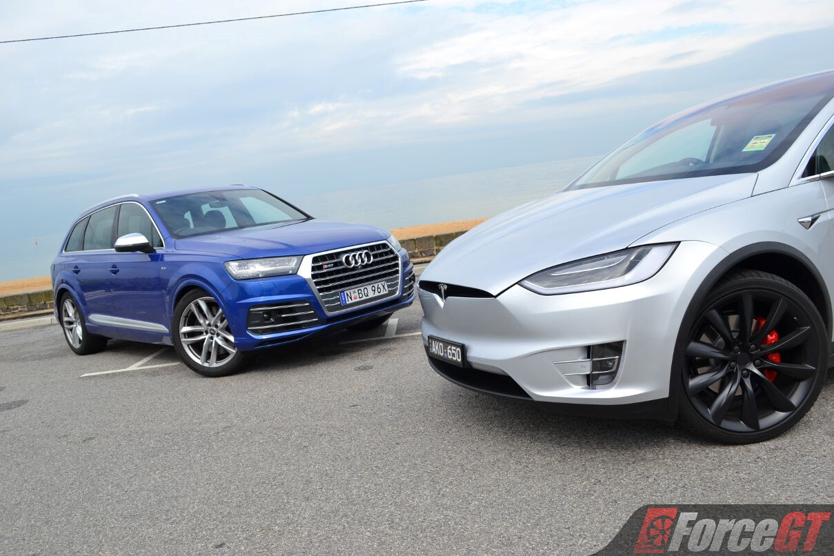 Fast Suv Comparison Tesla Model X P100d Vs Audi Sq7