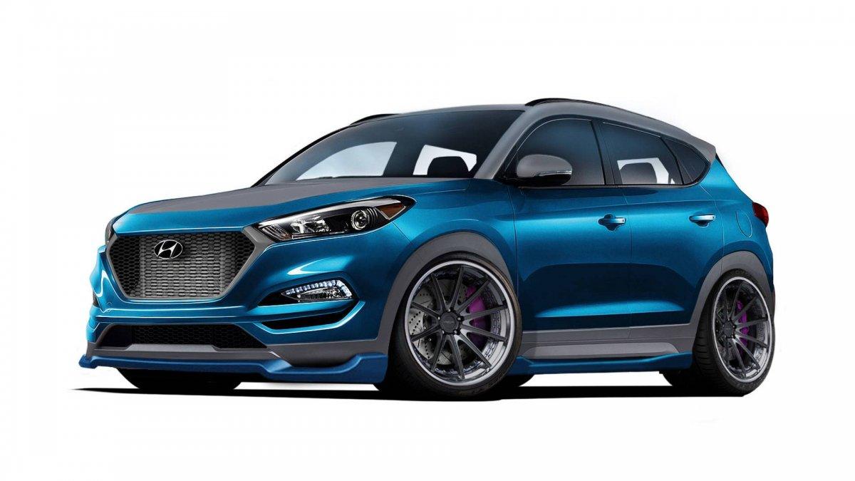 Hyundai tucson gets hotted up for sema - 2017 hyundai tucson sport interior ...