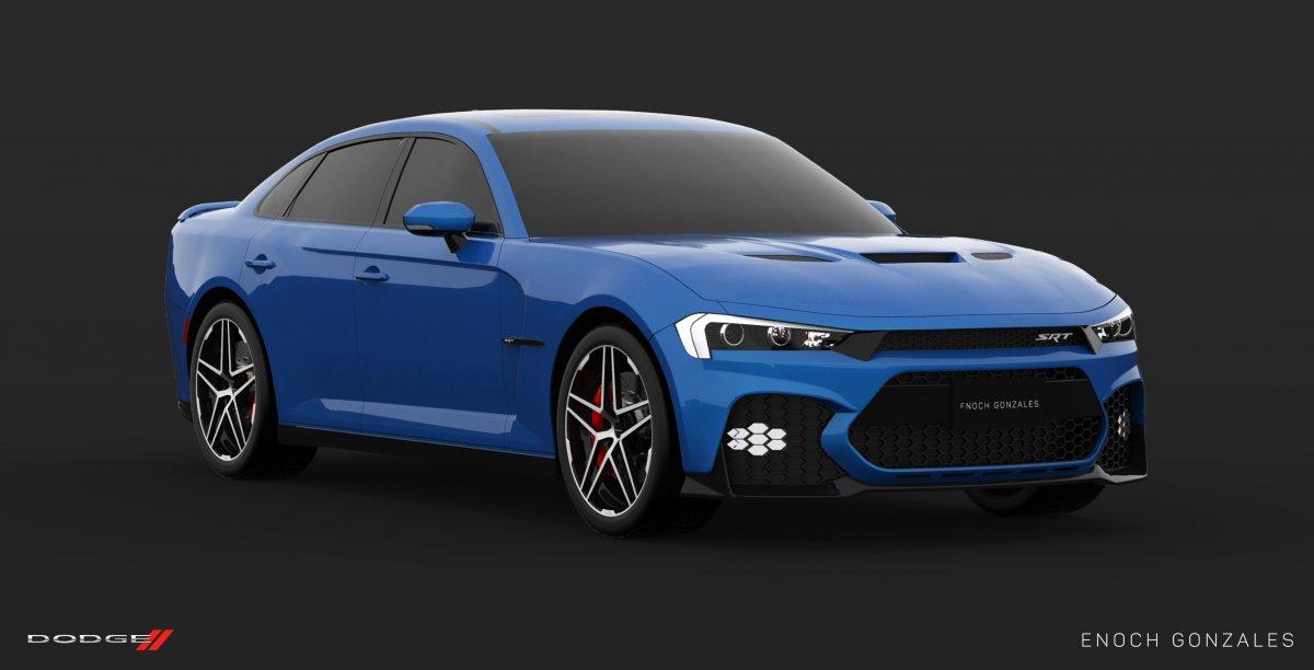 2019 Dodge Charger Srt Hellcat Blue Front Quarter Forcegt Com