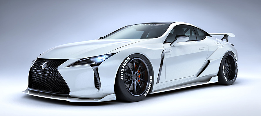 lexus lc wide body kit from artisan spirits