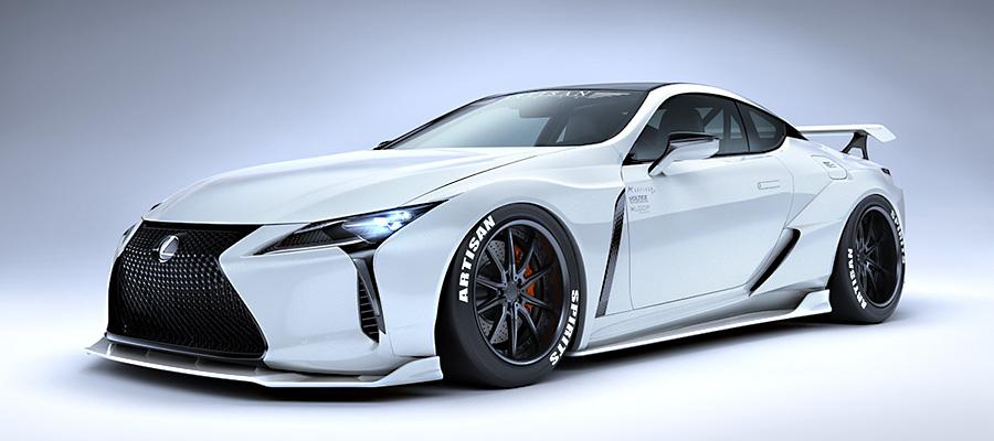 Lexus LC wide body kit from Artisan Spirits - ForceGT com