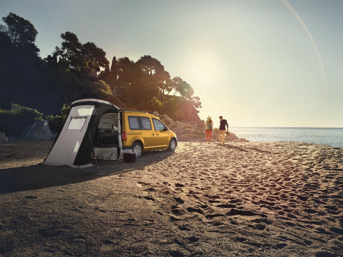 volkswagen reveals caddy beach campervan. Black Bedroom Furniture Sets. Home Design Ideas