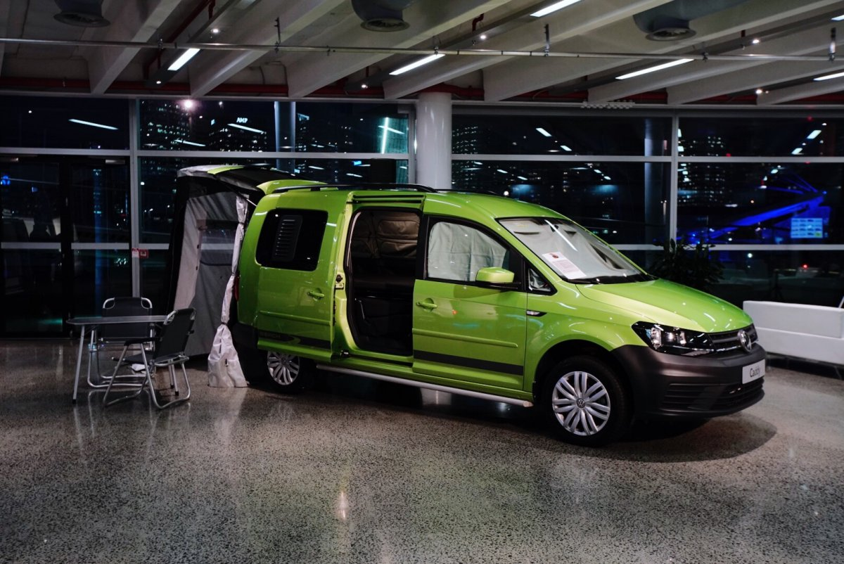 volkswagen reveals caddy beach campervan. Black Bedroom Furniture Sets. Home Design Ideas