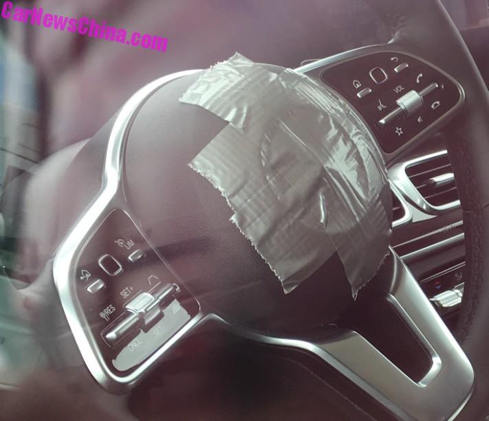 SPIED: 2019 W167 Mercedes-Benz GLE. First Interior Shots