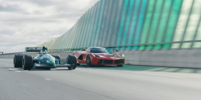 Motorsport film races LaFerrari, Brabham BT62, F1 car in the streets of Adelaide