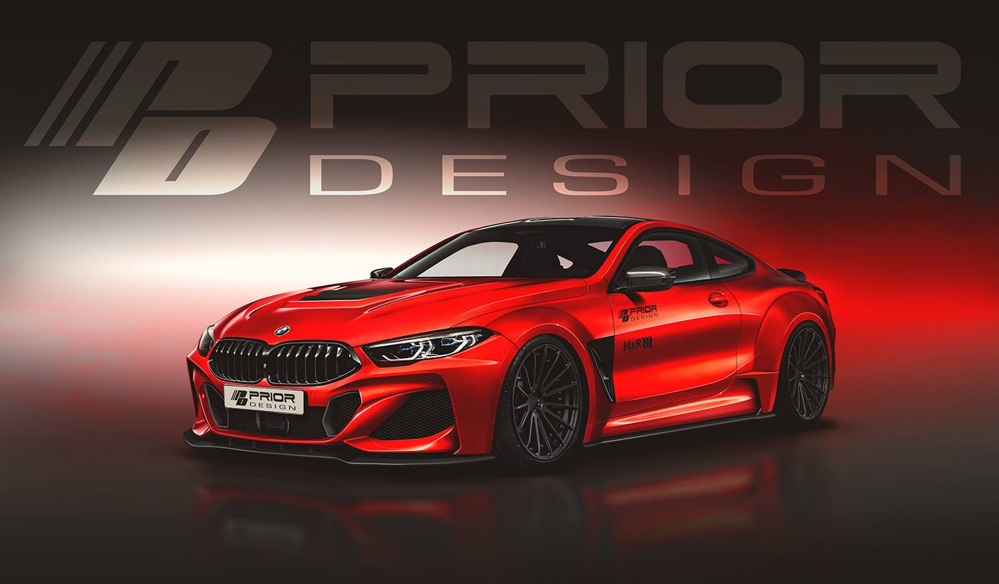 Prior Design teases aggressive wide-body kit for BMW 8 ...