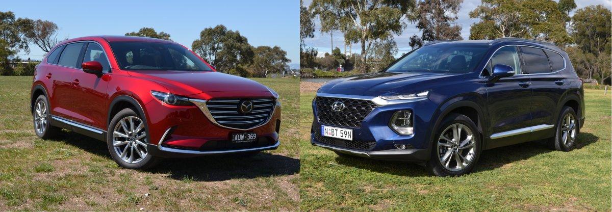 Mazda Santa Fe >> 7 Seat Suv Comparison 2019 Mazda Cx 9 Vs Hyundai Santa Fe Forcegt Com