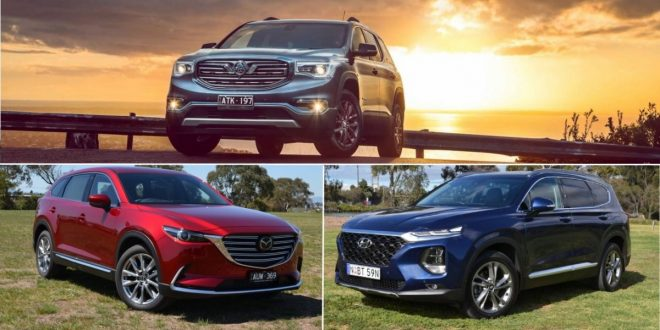 2019 Mazda CX-9 vs Hyundai Santa Fe vs Holden Acadia Review