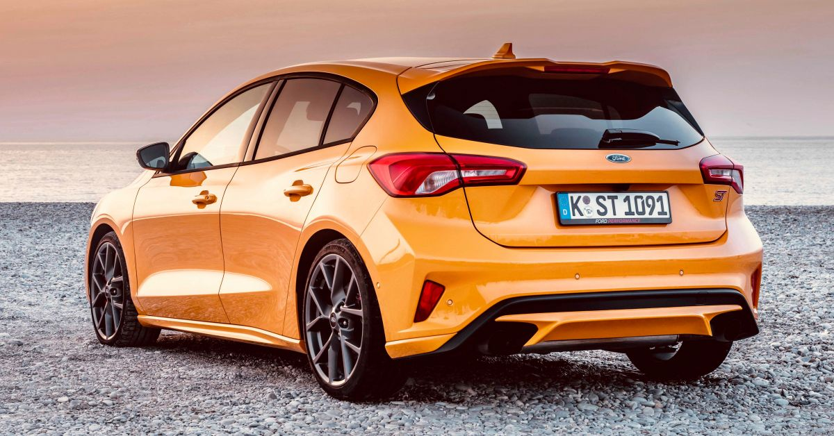 2019 Ford Focus St Orange Fury Rear Quarter Forcegt Com
