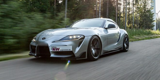 Toyota Supra sharpened with KW coilover suspension