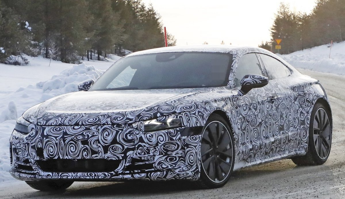 Spotted: Audi e-tron GT EV coupe inches closer to ...
