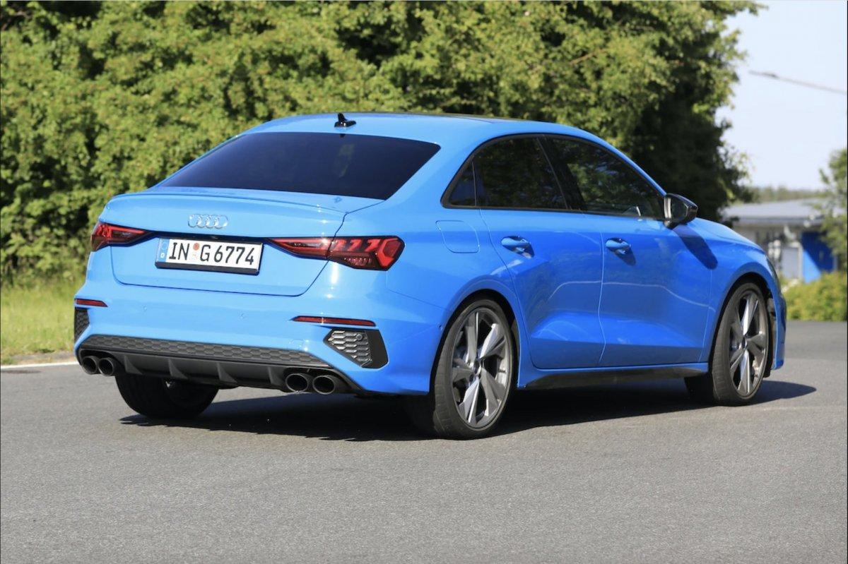 2021 Audi S3 sedan hits the road fully undisguised ...