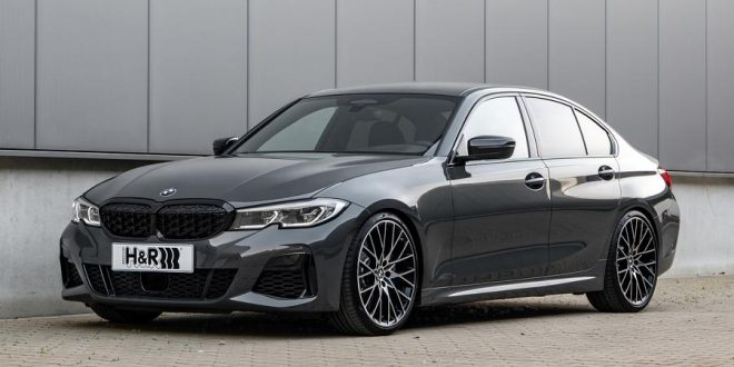 BMW 3 Series G20 dropped on H&R springs and spacer package