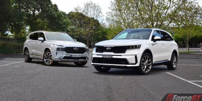 2021 Hyundai Santa Fe vs Kia Sorento Comparison Review